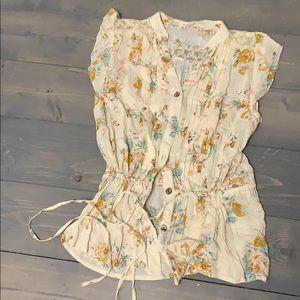 Mine Floral Cream top